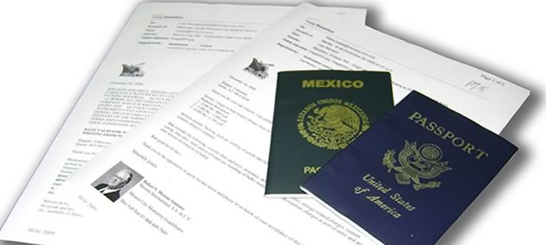 international moving to Monclova, documentation